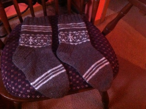 brown white slipper socks