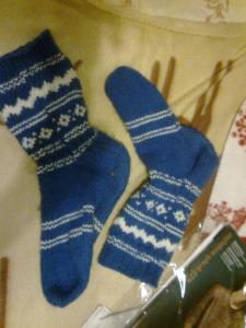 finnish blue socks